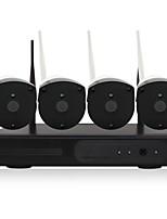 abordables -yanse® 1080p plug and play wireless nvr kits hd ir sistema de cámara ip de seguridad de visión nocturna