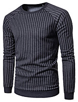 cheap -Men's Sports Casual Street chic Long Sleeves Sweatshirt - Striped Round Neck