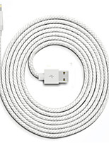 cheap -Lightning USB Cable Adapter Quick Charge High Speed Cable For iPhone 300 cm Nylon