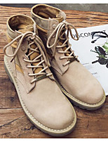 cheap -Men's Shoes Nubuck leather Winter Fall Combat Boots Comfort Boots Booties/Ankle Boots for Casual Khaki