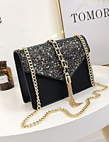 cheap -Women's Bags PU Shoulder Bag Tassel Zipper for Casual All Seasons Blue Black Blushing Pink