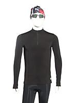 preiswerte -Herrn Funktionsunterhemd Langarm Windundurchlässig Skitourengehen Winter Sport Kompressionskleidung Oberteile für Outdoor Übungen