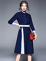 cheap -SHIHUATANG Women's Street chic A Line Dress - Color Block, Patchwork
