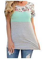 cheap -Women's Cute Cotton T-shirt - Solid Colored
