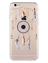 cheap -Case For Apple iPhone 8 iPhone 7 Pattern Back Cover Feathers Soft TPU for iPhone 8 Plus iPhone 8 iPhone 7 Plus iPhone 7 iPhone 6s Plus
