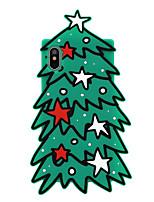 Недорогие -Кейс для Назначение Apple iPhone X С узором Кейс на заднюю панель Мультипликация / дерево / Рождество Мягкий Силикон для iPhone X