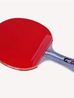 abordables -DHS® R4002C Ping Pang/Tennis de table Raquettes Bois Caoutchouc 4 étoiles Long Manche Boutons