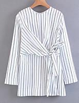 cheap -Women's Basic Butterfly Sleeve Shirt - Striped, Bow