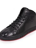 abordables -Homme Chaussures Cuir Printemps Automne Confort Basket pour Décontracté De plein air Noir
