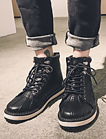 cheap -Men's Shoes PU Winter Fall Combat Boots Boots Booties/Ankle Boots for Outdoor Black Army Green