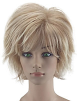 cheap -Synthetic Wig Curly Layered Haircut Natural Hairline Blonde Women's Capless Natural Wigs Short Synthetic Hair