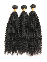 cheap -Brazilian Kinky Curly Human Hair Weaves 3pcs 0.3