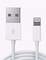 Недорогие -Подсветка Адаптер USB-кабеля Компактность Быстрая зарядка Назначение iPhone 200 cm Пластик