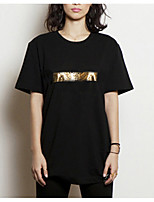 cheap -Women's Simple T-shirt - Color Block / Summer