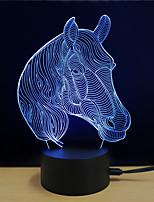 economico -1set 3D Nightlight Toccare 7-Color DC Alimentato Stress e ansia di soccorso Con porta USB Colore variabile