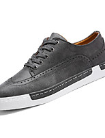 Недорогие -Муж. обувь Полиуретан Весна Осень Удобная обувь Туфли на шнуровке для Повседневные Серый Хаки