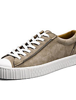 cheap -Men's Shoes Pigskin Spring Fall Comfort Sneakers for Casual Black Gray Khaki