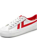 Недорогие -Муж. обувь Дерматин Зима Удобная обувь Кеды для Повседневные Белый Черный Красный