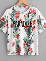 economico -T-shirt Per donna Semplice Fantasia floreale