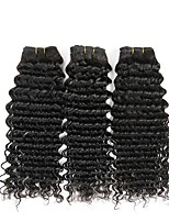 cheap -Brazilian Hair Wavy Human Hair Weaves 50g x 3 Extention Human Hair Extensions Extension Christmas Gifts Christmas Wedding Party Special