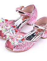 cheap -Girls' Shoes Sparkling Glitter Spring Summer Flower Girl Shoes Novelty Comfort Sandals Rhinestone Bowknot Buckle for Wedding Dress Gold