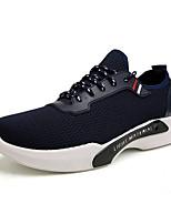 Недорогие -Муж. обувь Тюль Весна Лето Удобная обувь Кеды для Повседневные на открытом воздухе Черный Синий