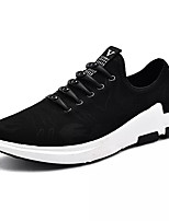 cheap -Men's Shoes PU Spring Fall Comfort Sneakers for Casual Black/White