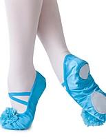 abordables -Chaussures de Ballet Soie Plate Entraînement Talon Plat Personnalisables Chaussures de danse Beige / Bleu