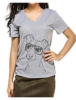 preiswerte -Damen Solide Tier-Niedlich Aktiv T-shirt