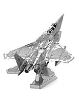 cheap -3D Puzzles Metal Puzzles Fighter Aircraft Focus Toy Hand-made Metal 1pcs Standing Style Military Toy Kid's Adults' Girls' Boys' Gift