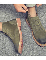 cheap -Men's Shoes Pigskin Nubuck leather Winter Fall Combat Boots Comfort Boots Booties/Ankle Boots for Casual Black Gray Army Green