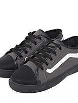 baratos -Homens sapatos Couro Ecológico Primavera Outono Conforto Tênis para Casual Preto Cinzento