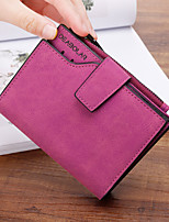 cheap -Women's Bags PU Wallet Zipper for Shopping Casual All Seasons Black Blushing Pink Gray Fuchsia