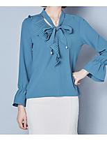 baratos -Mulheres Blusa Básico Estampado,Sólido