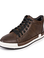 cheap -Men's Shoes Nappa Leather Spring Fall Comfort Sneakers for Casual Outdoor Black Gray Dark Brown