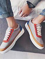 Недорогие -Муж. обувь Ткань Весна Осень Удобная обувь Кеды для Повседневные Черный Оранжевый Серый