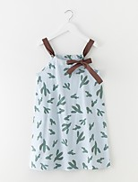 cheap -Girl's Daily Floral Dress Summer Simple Light Blue
