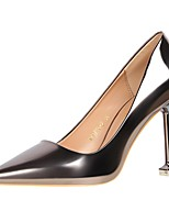 cheap -Women's Shoes PU Spring Summer Basic Pump Comfort Heels Stiletto Heel Closed Toe Pointed Toe for Office & Career Party & Evening Gold