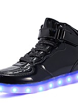 cheap -Girls' Boys' Shoes PU Leatherette Customized Materials Fall Light Up Shoes Comfort Sneakers Walking Shoes LED Hook & Loop Lace-up for
