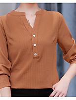 cheap -Women's Holiday Basic Cotton Shirt V Neck