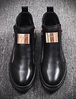 Недорогие -Муж. обувь Свиная кожа Зима Удобная обувь Кеды для Повседневные Черный Серебряный Коричневый
