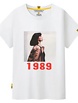 cheap -Women's Street chic Loose T-shirt - Portrait