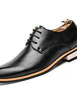 cheap -Men's Shoes Synthetic Microfiber PU Winter Spring Comfort Oxfords for Casual Black Brown Red