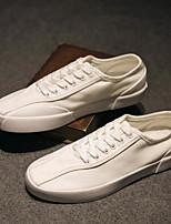 abordables -Homme Chaussures Toile Printemps Confort Basket pour Décontracté Blanc Noir
