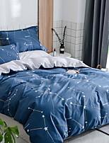 baratos -Conjunto de Capa de Edredão Estampa Geométrica 3 Peças Poliéster/Algodão 100% algodão Impressão Reactiva Poliéster/Algodão 100% algodão