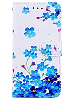 Недорогие -Кейс для Назначение Apple iPhone X iPhone 6 Бумажник для карт Флип С узором Чехол Цветы Твердый Кожа PU для iPhone X iPhone 8 Pluss