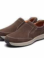 Недорогие -Муж. обувь Кожа Весна Осень Удобная обувь Мокасины и Свитер для Повседневные Серый Темно-коричневый