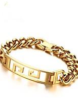 abordables -Homme Chaînes & Bracelets , Mode Inoxydable Forme Géométrique Bijoux Cadeau Quotidien Bijoux de fantaisie Or