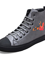 cheap -Men's Shoes Cowhide Spring Fall Combat Boots Boots Booties/Ankle Boots for Casual Black Gray