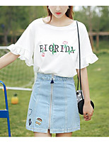 cheap -Women's Cute T-shirt - Letter